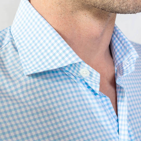 The Pool Blue Kirby Gingham Dress Shirt
