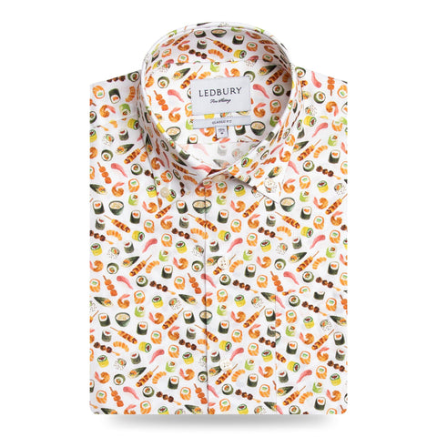The Short Sleeve Sashimi Print Casual Shirt