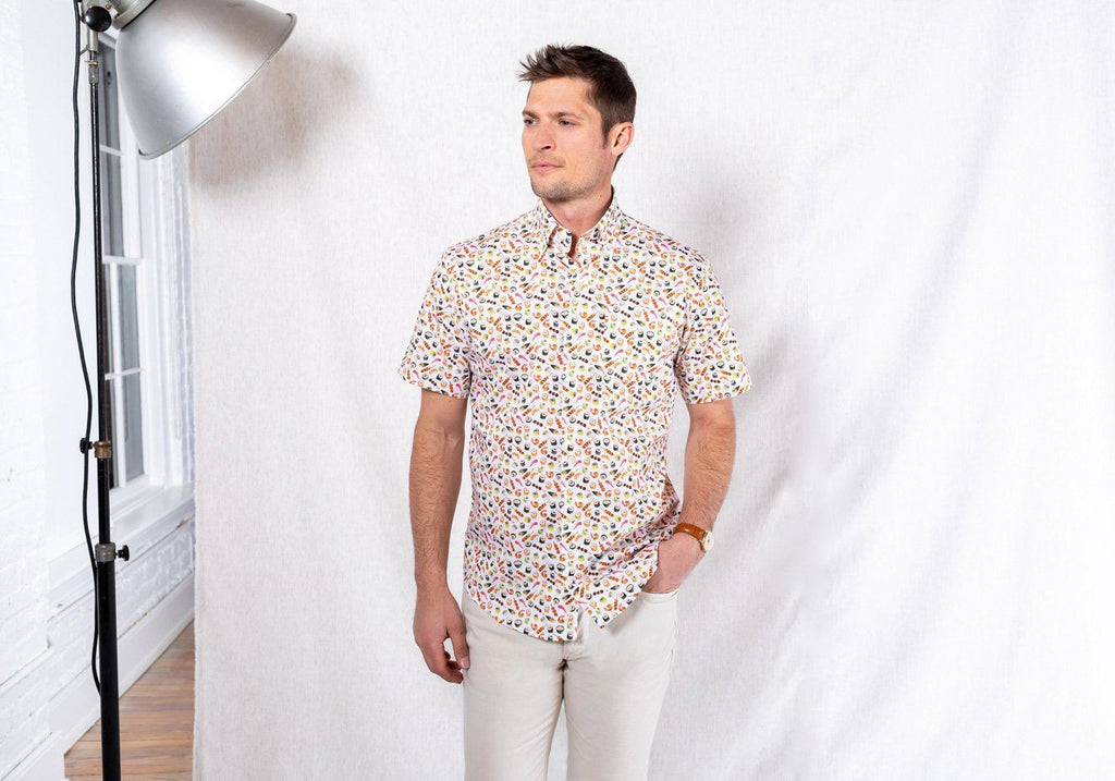 The Short Sleeve Sashimi Print Casual Shirt Casual Shirt- Ledbury