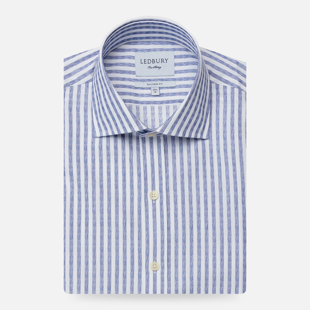 The Blue Harwood Stripe Casual Shirt Casual Shirt- Ledbury
