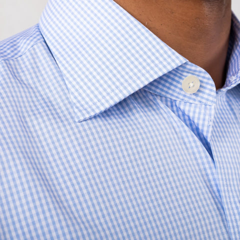The Blue Gingham Poplin Dress Shirt