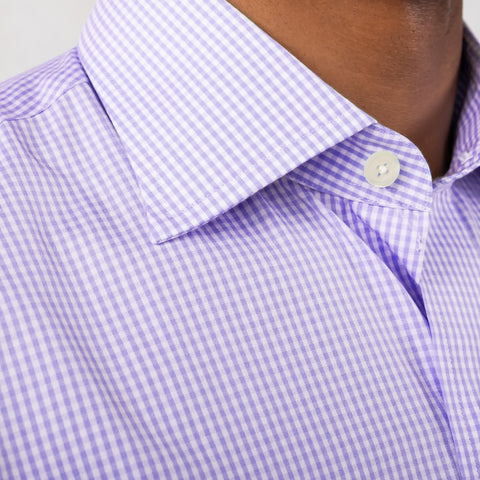 The Lavender Gingham Poplin Dress Shirt