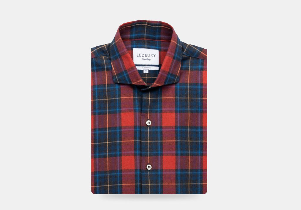 The Currant Alderidge Flannel Casual Shirt Casual Shirt- Ledbury