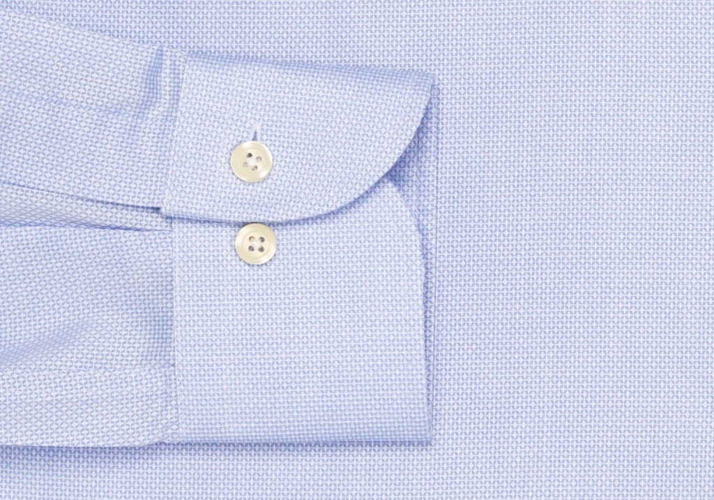 The Blue Eckerson Dobby Dot Dress Shirt Dress Shirt- Ledbury