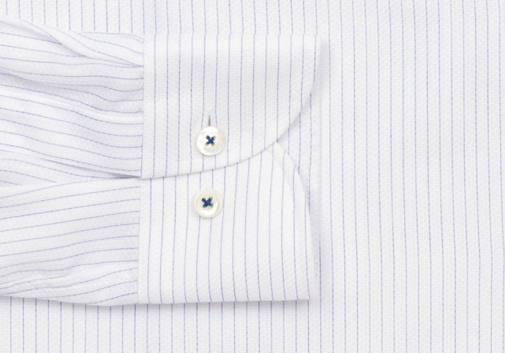 The Blue Harrell Lux Stripe Dress Shirt Dress Shirt- Ledbury