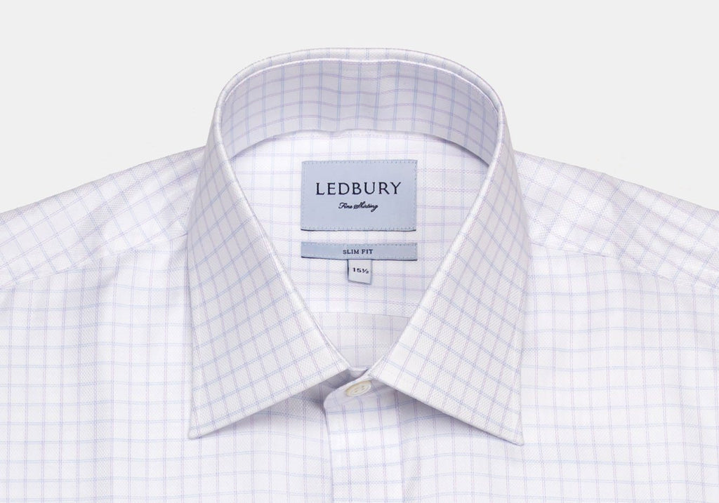 The Lavender Lewiston Check Dress Shirt Dress Shirt- Ledbury