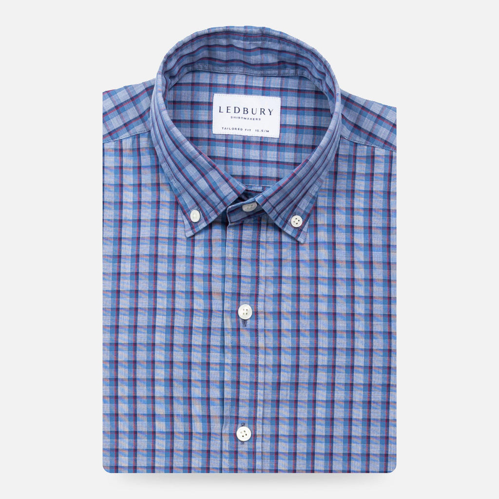 The Blue Fenton Check Casual Shirt Casual Shirt- Ledbury