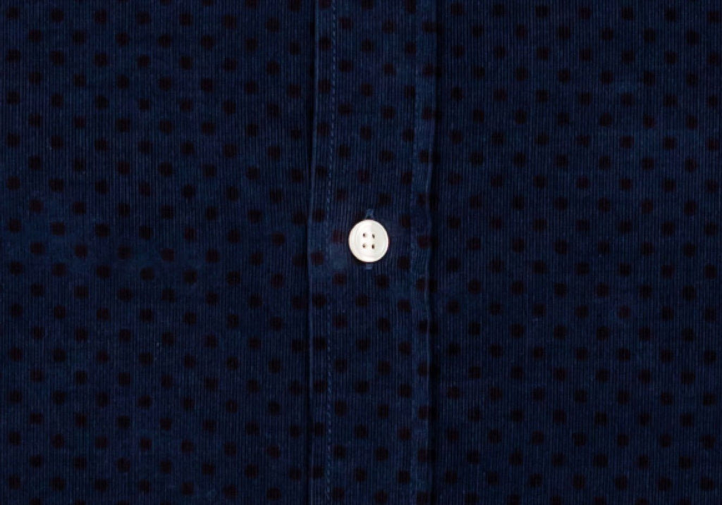 The Navy Temperly Corduroy Dot Casual Shirt Casual Shirt- Ledbury