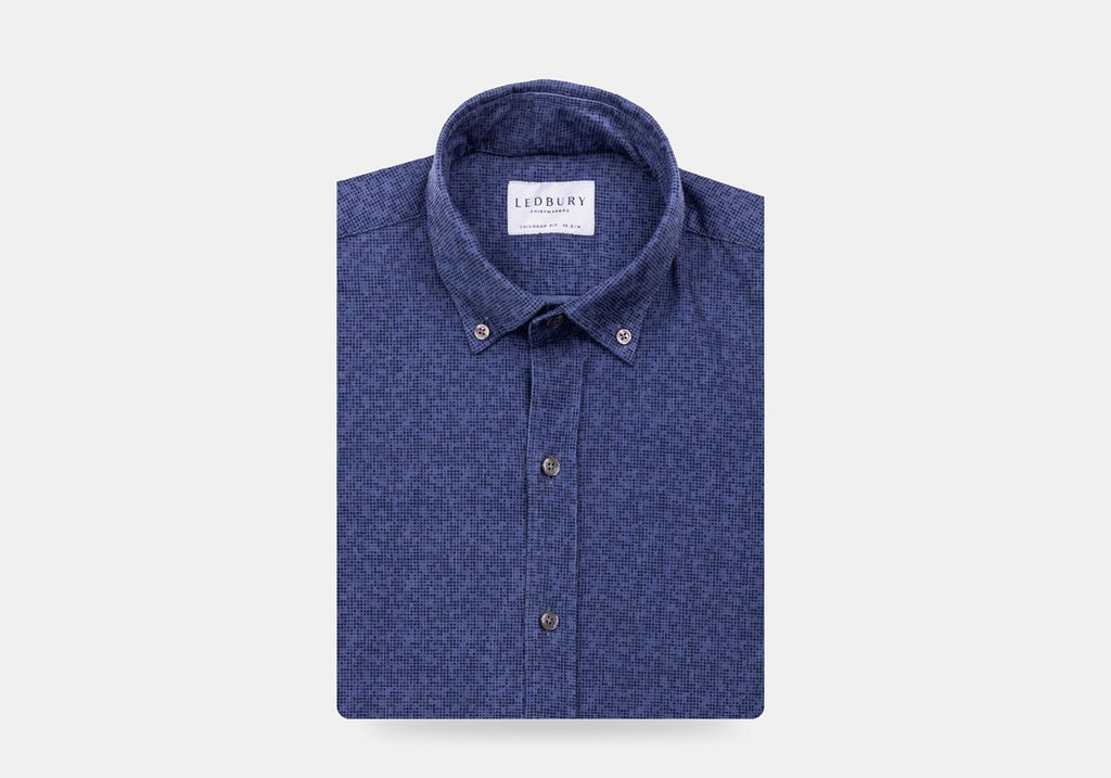 The Blue Purcell Printed Corduroy Casual Shirt Casual Shirt- Ledbury