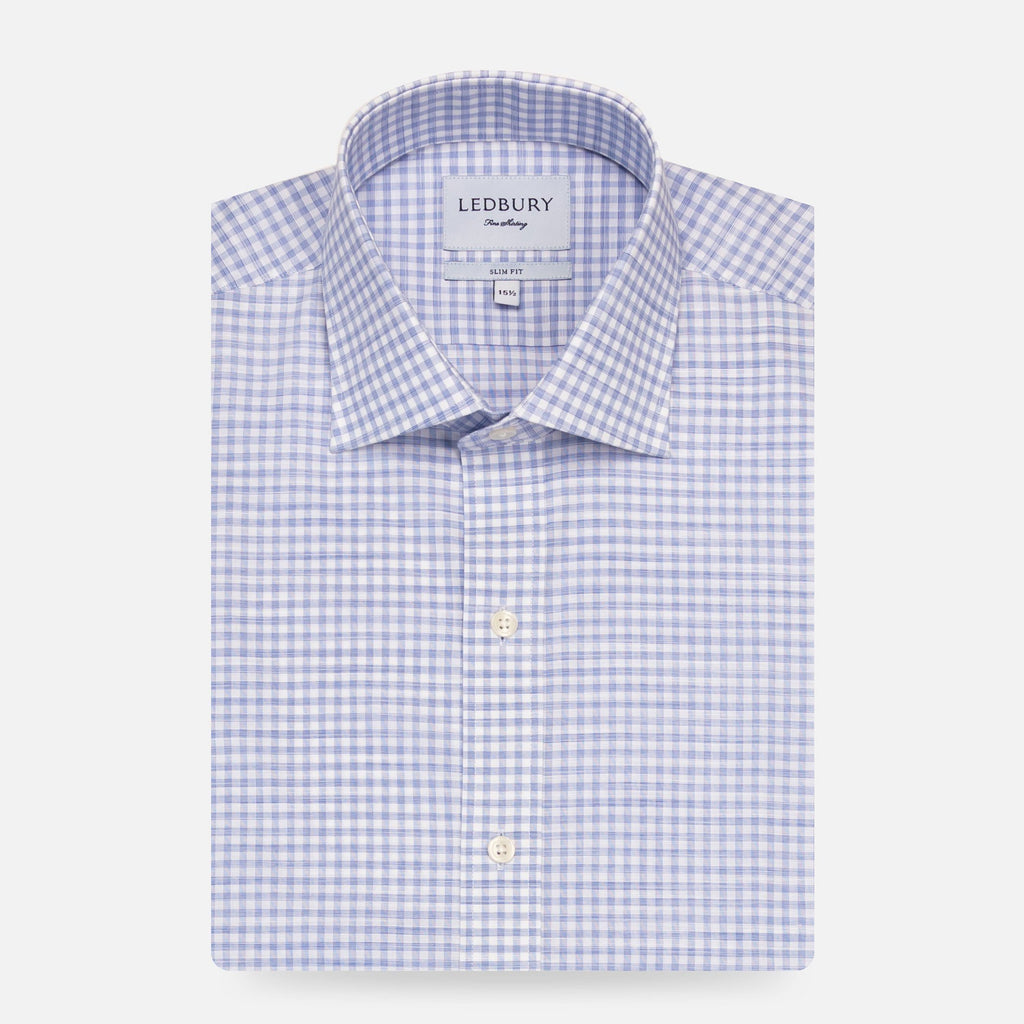 The Blue Buckley Performance Gingham Casual Shirt Casual Shirt- Ledbury