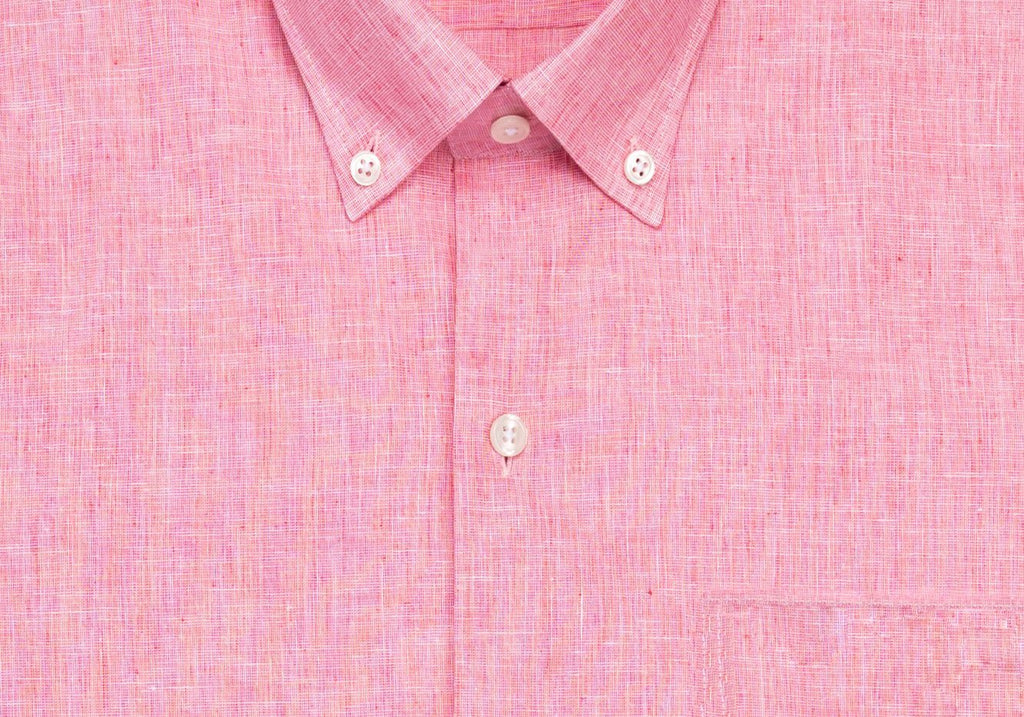 The Red Short Sleeve Covington Cotton Linen Casual Shirt Casual Shirt- Ledbury