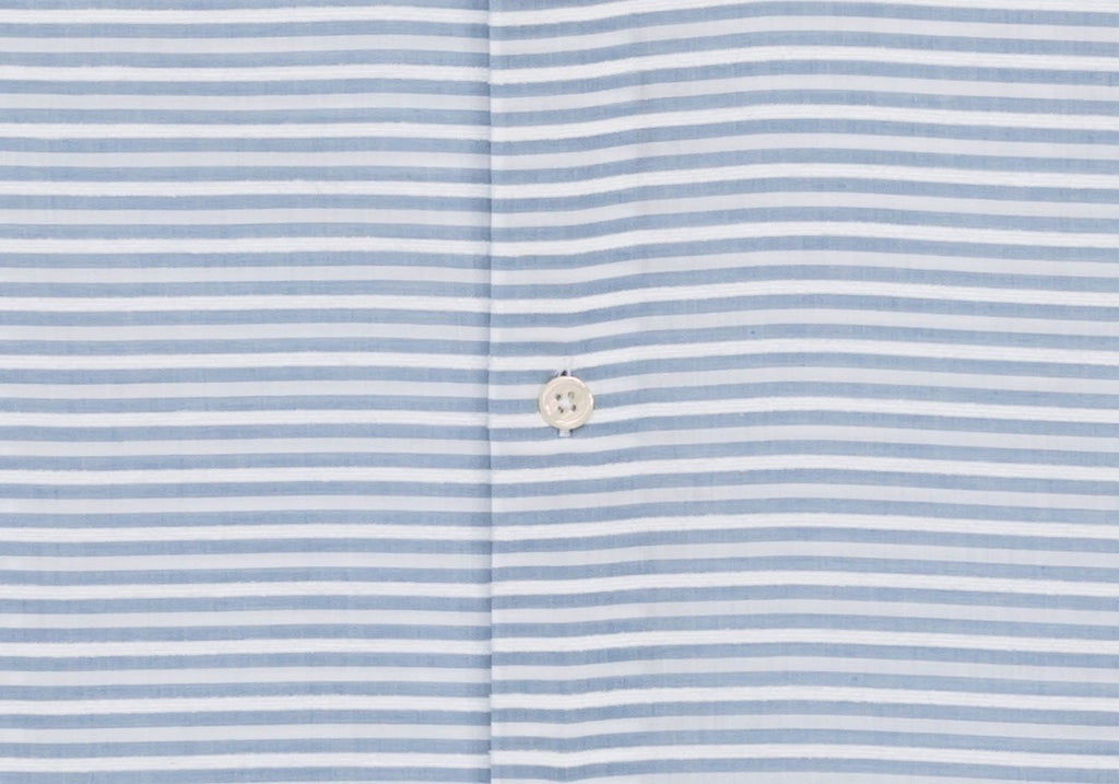 The Blue Short Sleeve Wysall Stripe Casual Shirt Casual Shirt- Ledbury