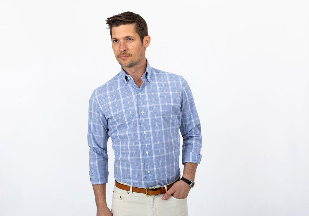 The Blue Dickinson Check Casual Shirt Casual Shirt- Ledbury