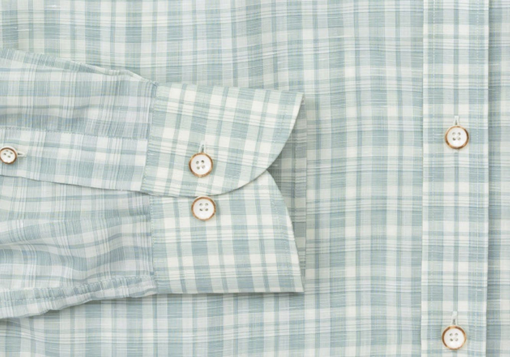 The Sage Merino Winther Check Dress Shirt Dress Shirt- Ledbury
