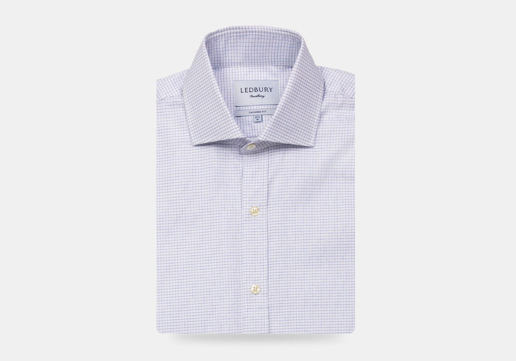 The Purple Kentland Check Dress Shirt Dress Shirt- Ledbury