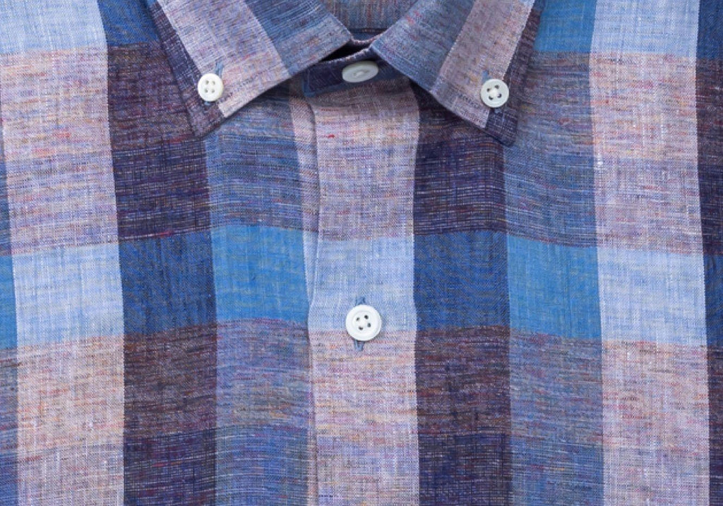 The Deep Blue Canton Linen Casual Shirt Casual Shirt- Ledbury