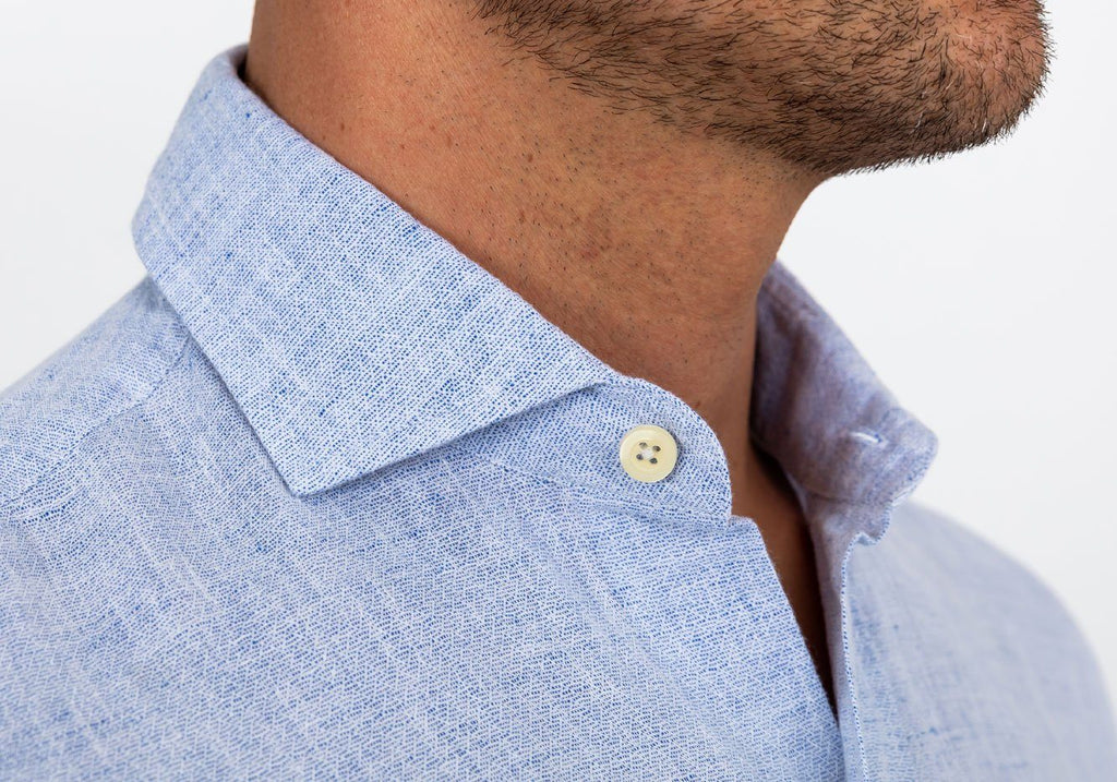 The Blue Chaversham Linen Cotton Casual Shirt Casual Shirt- Ledbury