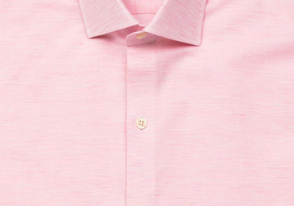 The Pink Edmundton Cotton Linen Casual Shirt Casual Shirt- Ledbury