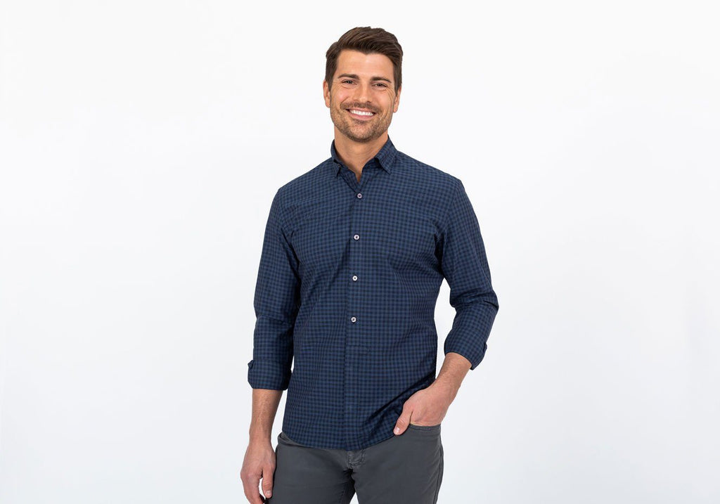The Indigo Rudgate Check Casual Shirt Casual Shirt- Ledbury