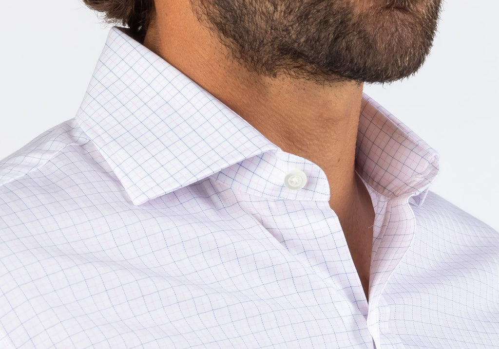 The Pink McLachlan Check Dress Shirt Dress Shirt- Ledbury