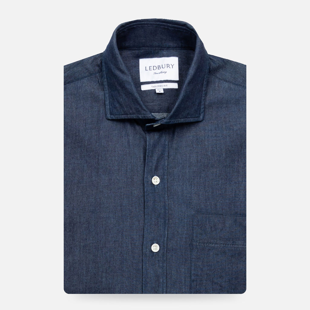 The Indigo Compo Denim Casual Shirt Casual Shirt- Ledbury