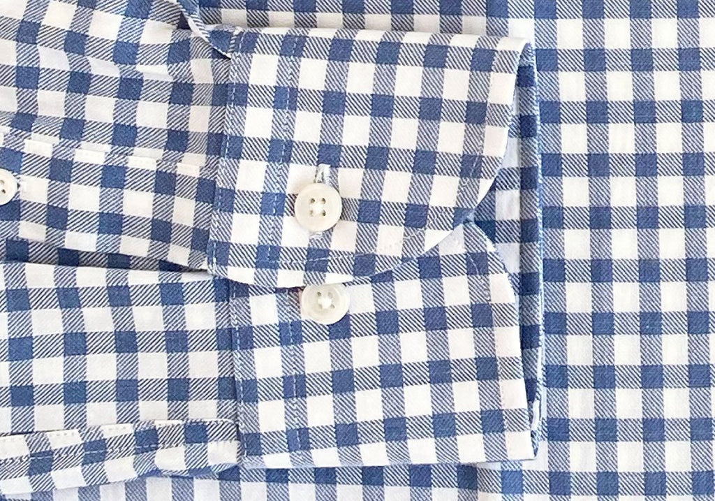 The Blue Farwell Gingham Casual Shirt Dress Shirt- Ledbury