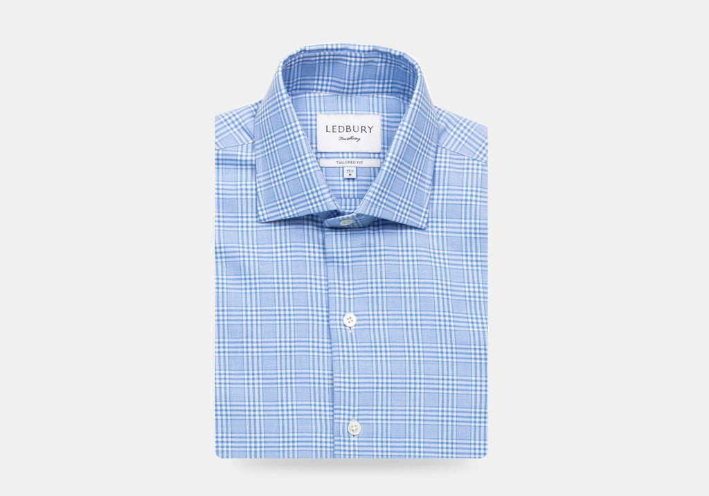 The Blue Woodmere Cashmere Check Casual Shirt Casual Shirt- Ledbury