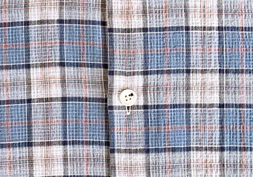 The Cadet Blue Harding Check Casual Shirt Casual Shirt- Ledbury