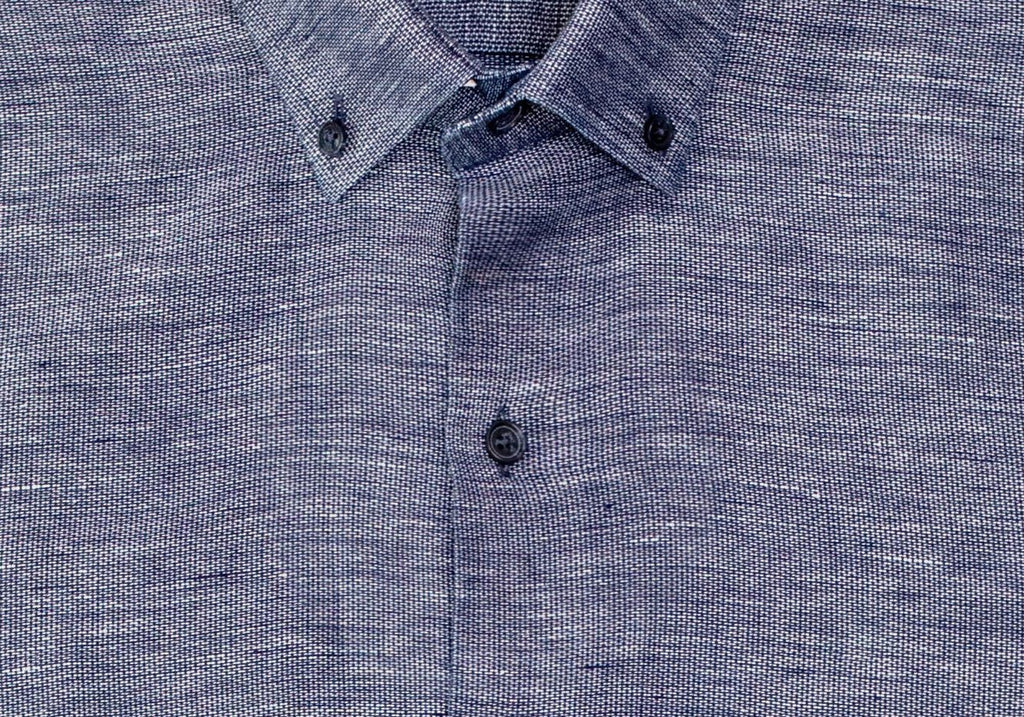 The Indigo Orville Cotton Linen Casual Shirt Casual Shirt- Ledbury