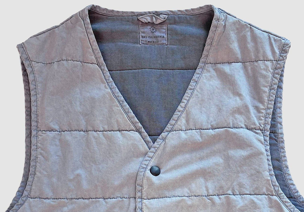 Save Khaki Airforce Blue Quilted Vest Outerwear- Ledbury