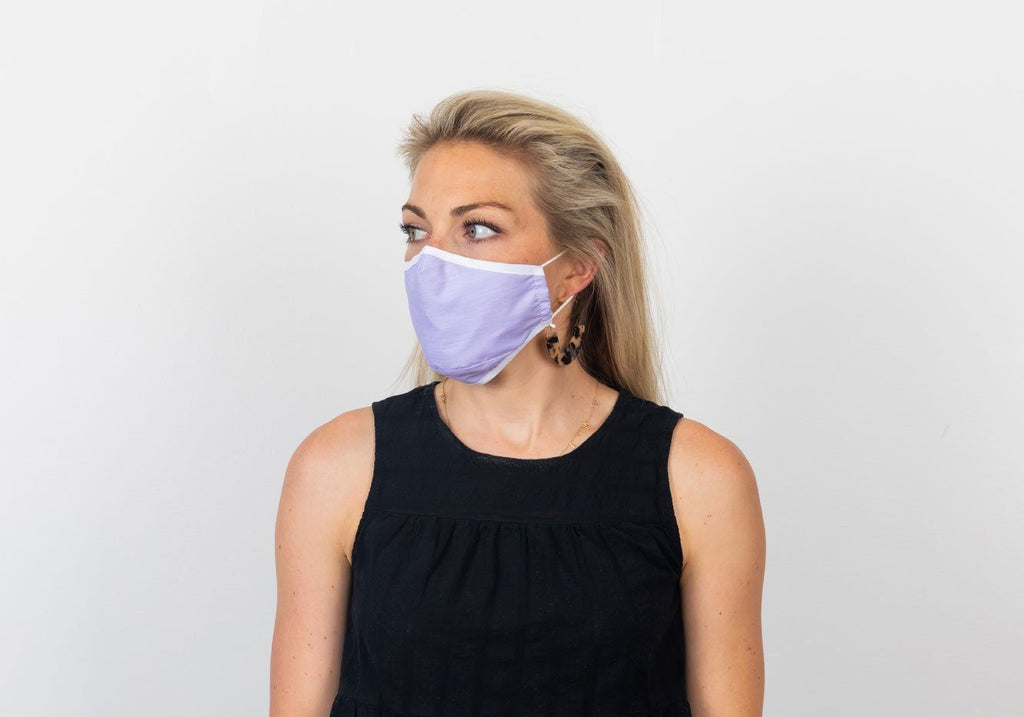 The Lavender Hope 3-Layer Cotton Mask With Pocket Mask- Ledbury