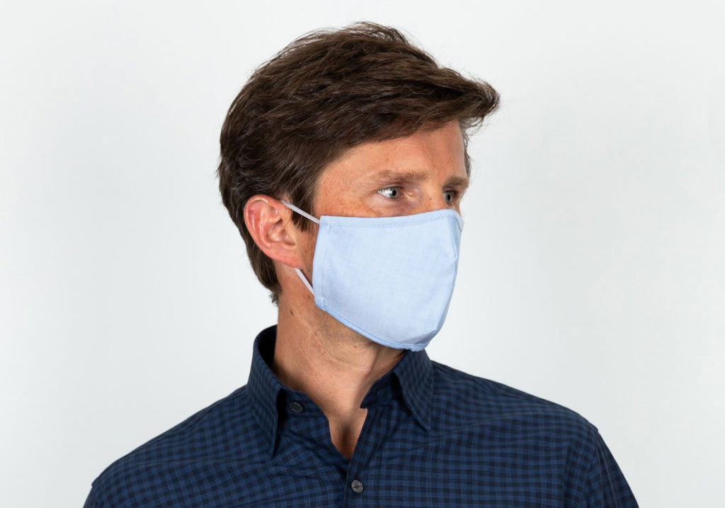 The Kent Trio 3-Layer Antibacterial Cotton Mask Mixed Blue 3-Pack Mask- Ledbury