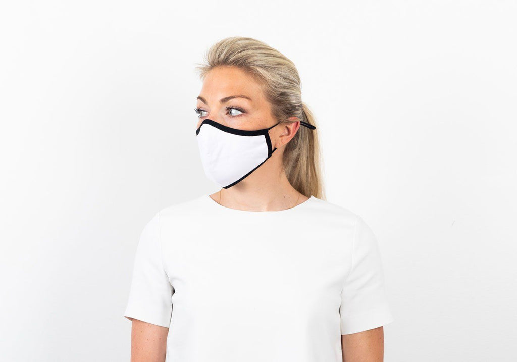The Ross Silver Ion Jersey Antibacterial Black & White Mask 2-Pack Mask- Ledbury