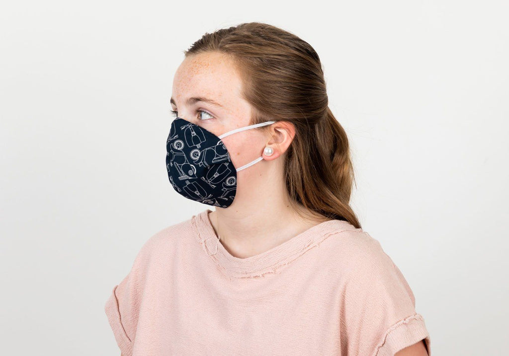 The Children's Scooter Print 2-Layer Cone Shape Mask Mask- Ledbury