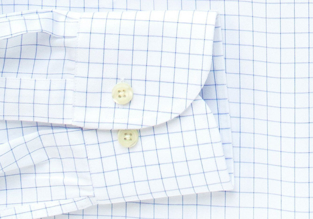 The Blue Carrington Windowpane Dress Shirt Dress Shirt- Ledbury