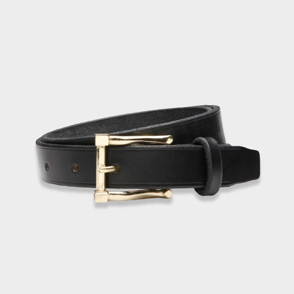 The Black Millington Belt with White Bronze Belt- Ledbury
