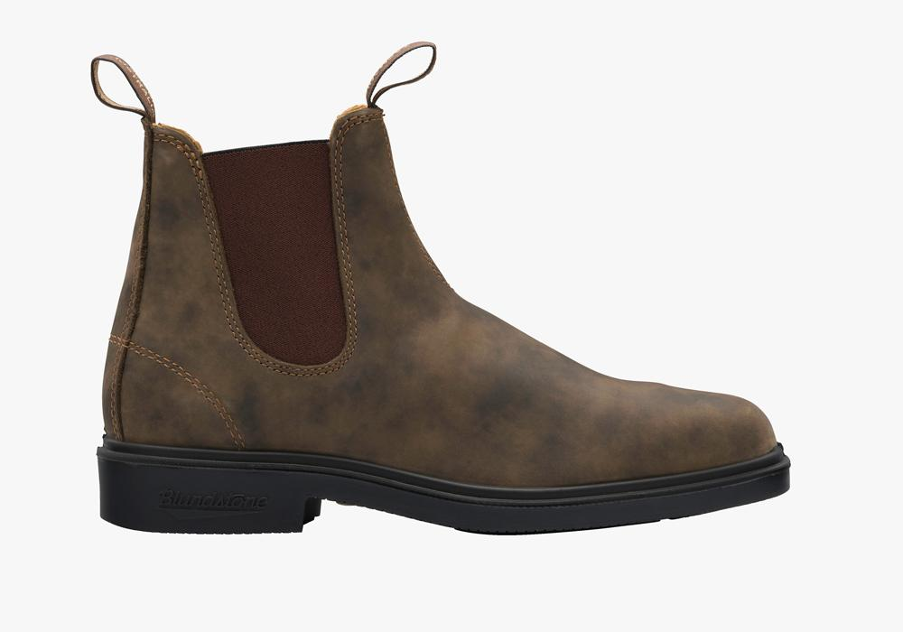 Blundstone Rustic Brown Dress Chelsea Boot Shoes- Ledbury