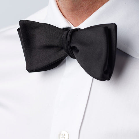 The Black Monroe Bow Tie