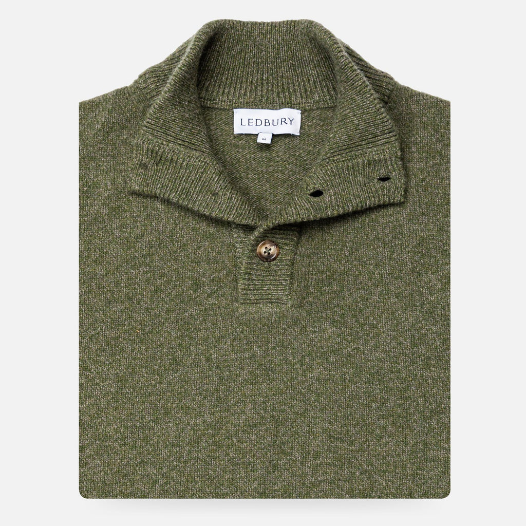 The Sage Brewer Mock Neck Sweater Sweater- Ledbury