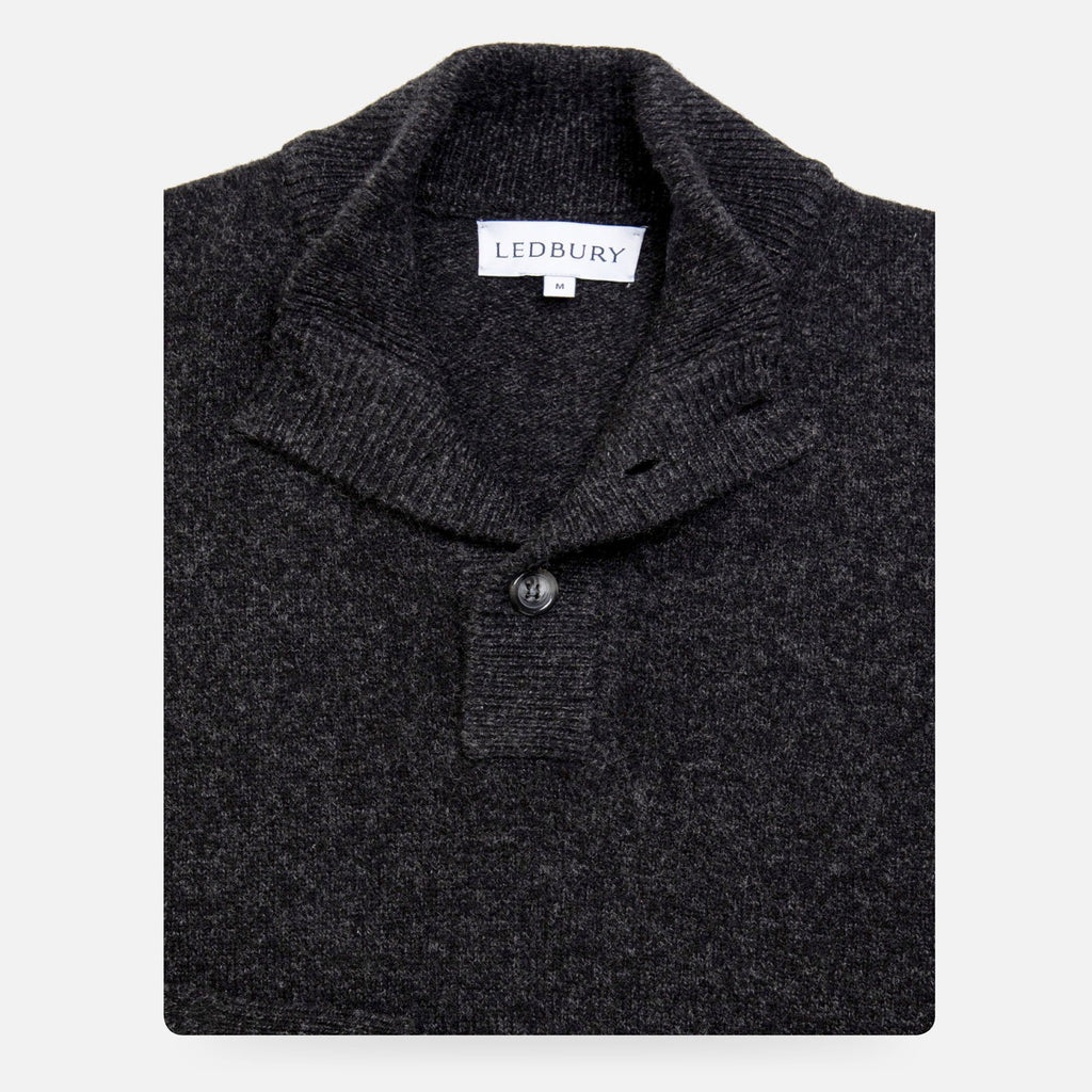 The Dark Grey Brewer Mock Neck Sweater Sweater- Ledbury