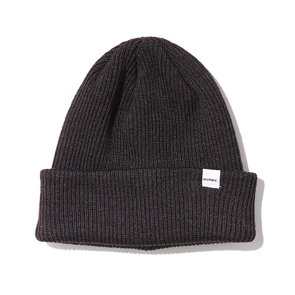 Druthers Charcoal Recycled Cotton Knit Beanie Hat- Ledbury