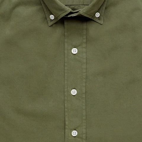 The Dark Olive Barrington Gabardine Casual Shirt
