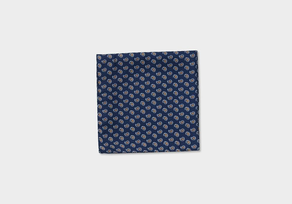 The Dark Blue Dover Pocket Square Pocket Square- Ledbury