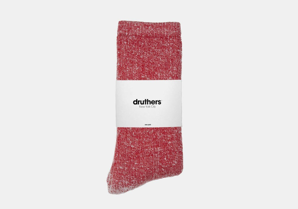 Druthers Red Merino Wool House Socks Socks- Ledbury