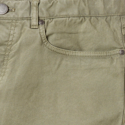 Ledbury | The Olivine Franklin 5-Pocket Washed Twill Pant