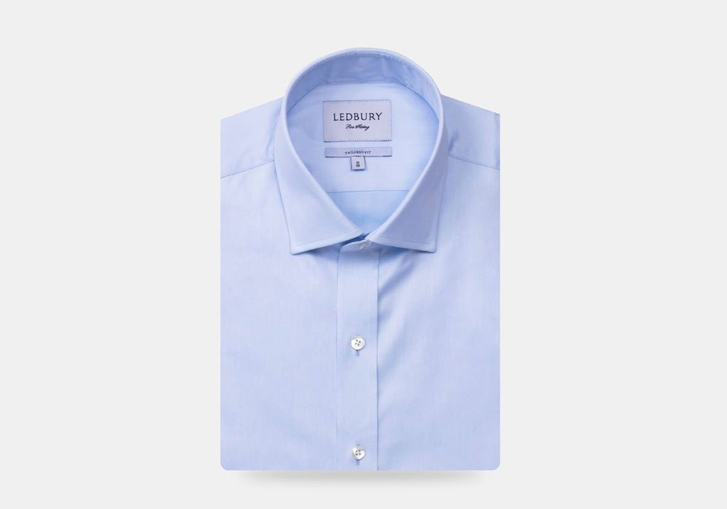 The Light Blue Hinesley Light Twill Dress Shirt Dress Shirt- Ledbury