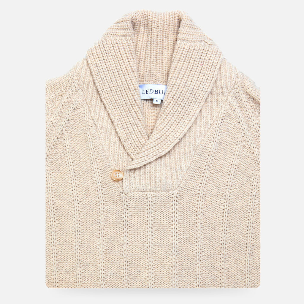 The Oatmeal Heather McKee Shawl Pullover Sweater Sweater- Ledbury