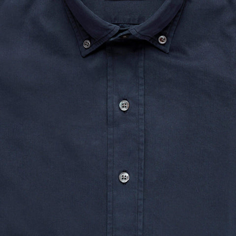 The Navy Barrington Gabardine Casual Shirt