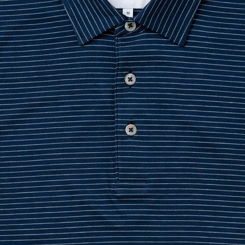 The Navy Short Sleeve Hampden Polo