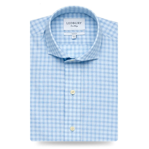 The Cadet Blue Clermont Gingham Casual Shirt